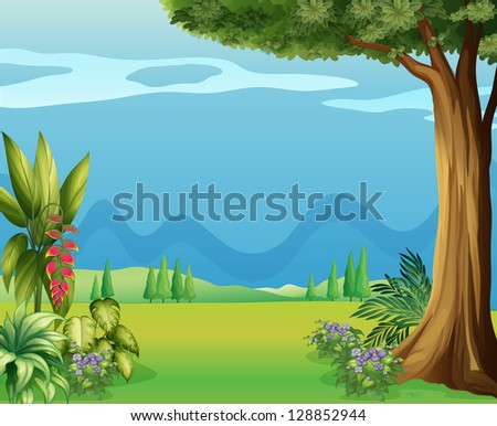 Illustration of the natural view of mother nature
