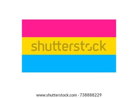 Illustration Pansexual Pride Flag On White Stock Illustration
