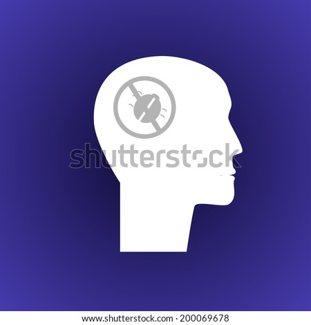 Illustration of the software tester icon - stock photo