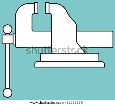 Illustration of the vice tool icon - stock photo
