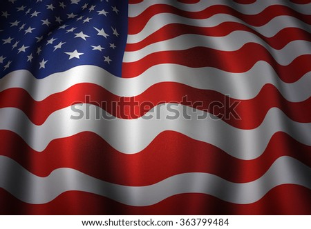 Illustration of the waving flag of the United States.
