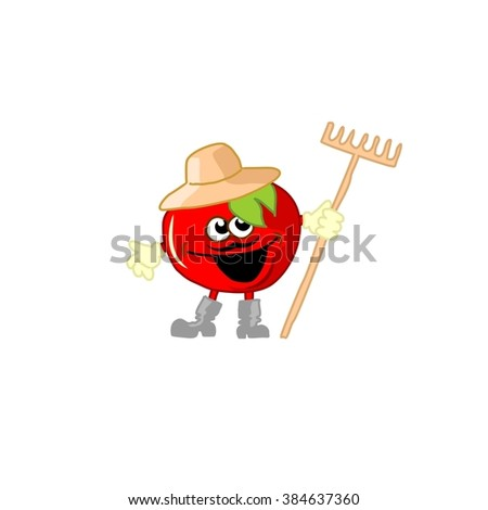illustration of tomato, garden, vegetables, juice, village