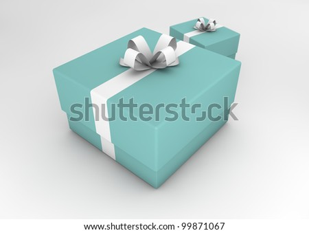 Illustration of two presents.