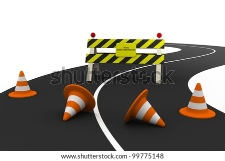 Illustration of under construction - stock photo