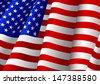 Illustration of USA flag - stock