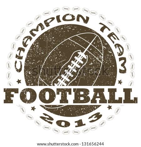 illustration of vintage american football label - stock photo