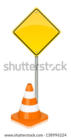 Illustration of warning sign - stock photo