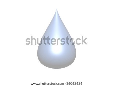 illustration of water drop, isolated on white