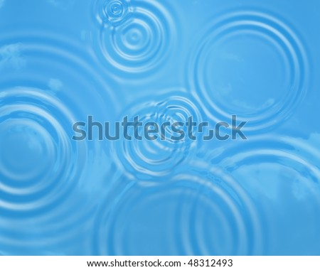 Illustration of water ripples background - stock photo