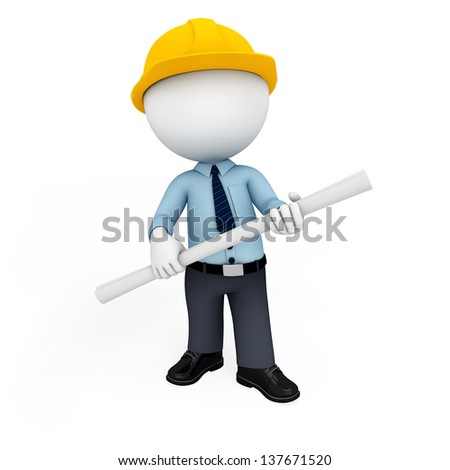 illustration of white character on white background