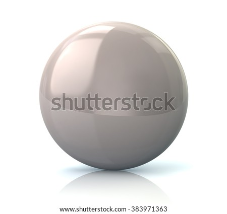 Illustration of white glossy button isolated on white background