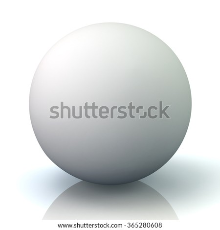 Illustration of white sphere isolated on white background