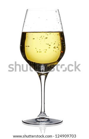 Illustration of wine in a plain background