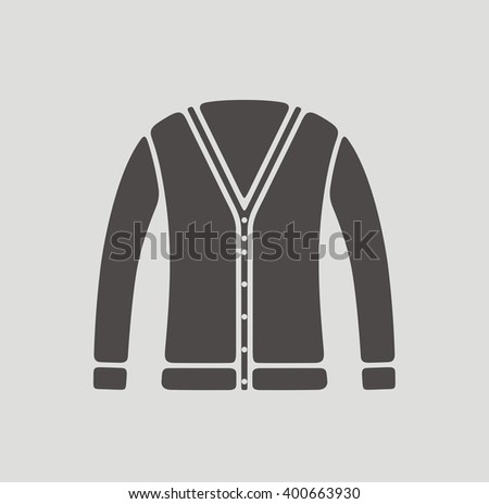 Illustration of women's cardigan icon. Raster version - stock photo