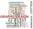 "Illustration of wordcloud tags related to concept ""graphic design"" - stock vector"