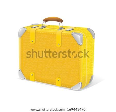 illustration of yellow trawel suitcase - stock photo