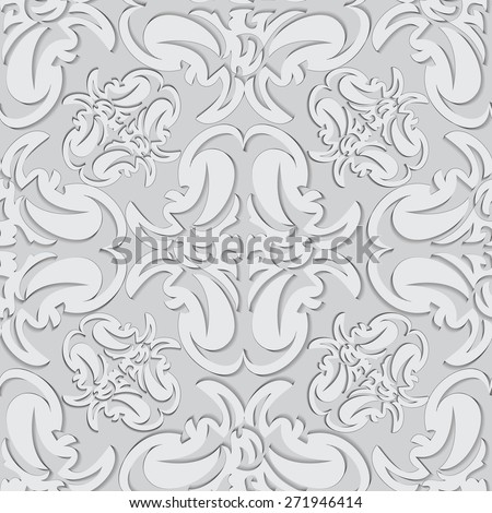 Illustration seamless texture with decorative ornaments resembling a stencil. - stock photo