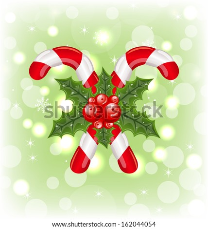 Illustration set Christmas balls on snowflakes background - raster - stock photo
