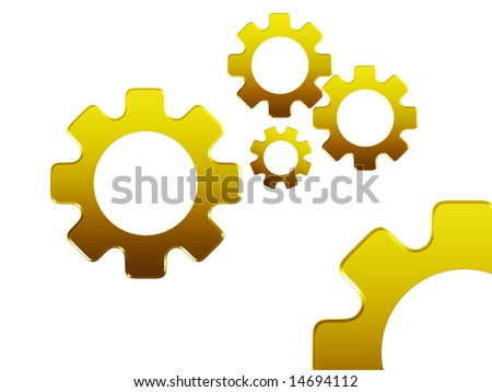 Illustration showing gears, useful for business related images.