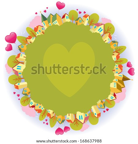 Illustration the planet of love and peace/Illustration the planet of love and peace/Illustration for Valentines Day