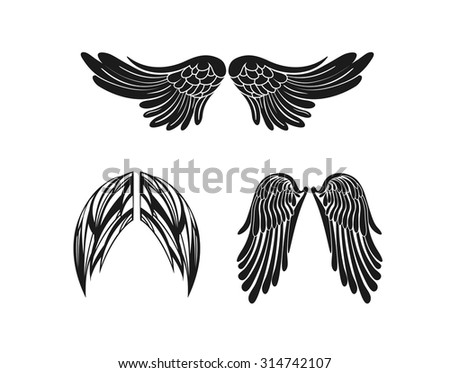 Illustration wings set