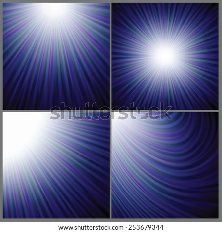Illustration  with abstract blue wave  background. Graphic Design Useful For Your Design. Vintage rays background texture design on border. - stock photo