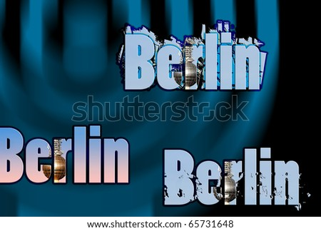Illustration with one of Berlins landmarks.