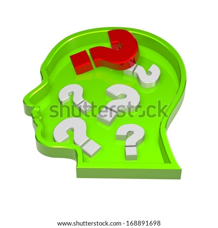 illustration with question marks - stock photo