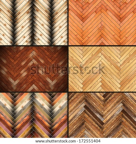 illustration with six parquet textures for your design