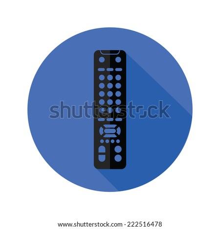 illustration with TV remote control icon  - stock photo