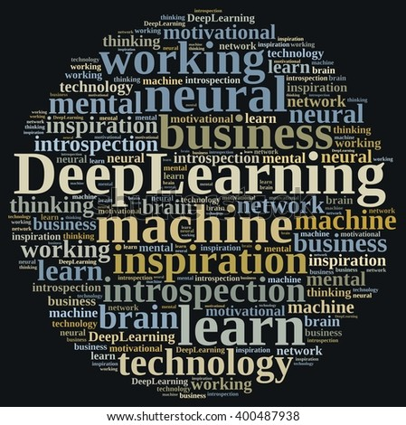 Illustration with word cloud on Deep Learning.