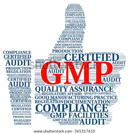 Illustration word cloud with concept of Good Manufacturing GMP Practice. - stock photo