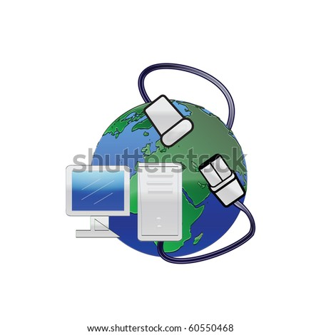Illustration World Internet Connection - stock photo