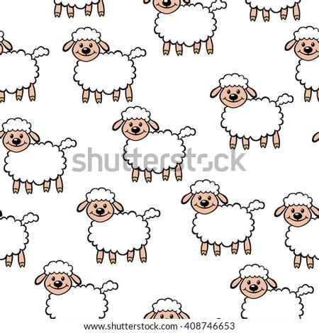 White Sheep Cartoon