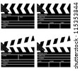 Illustrations of Movie Clapper Boards - stock photo