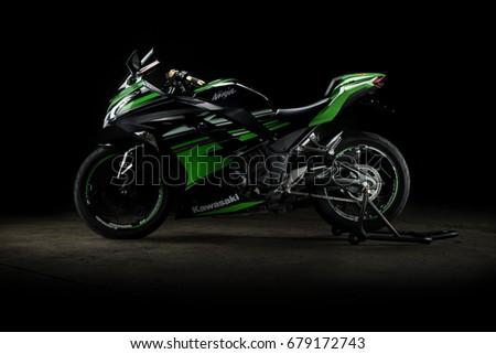 Kawasaki Ninja 300 In Bangkok Thailand. 15 July 2017