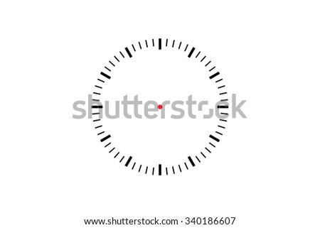 Illustrative front view of time clock icon, isolated on white background.