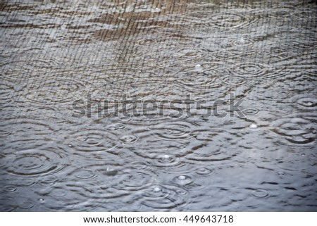 Image blur background The time interval of the rain drop of water and be caught in the rain - stock photo