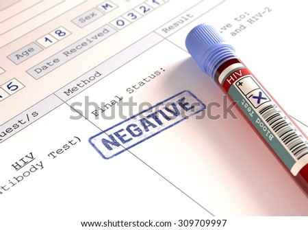 Image concept with the result of the HIV test.