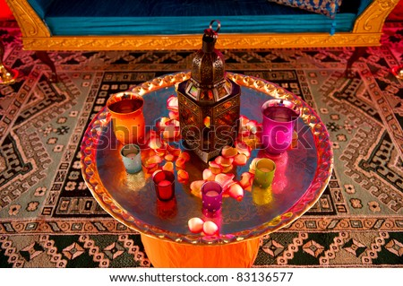 Image detail of a table setting at an indian wedding & Image Detail Table Setting Indian Wedding Stock Photo (Royalty Free ...