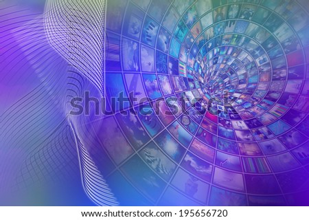 Image Filled Tube Recedes into Distance - stock photo