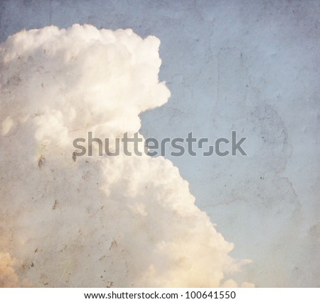 image from outdoor background series (cloud texture) - stock photo