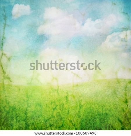 image from outdoor background series (sky and grass)