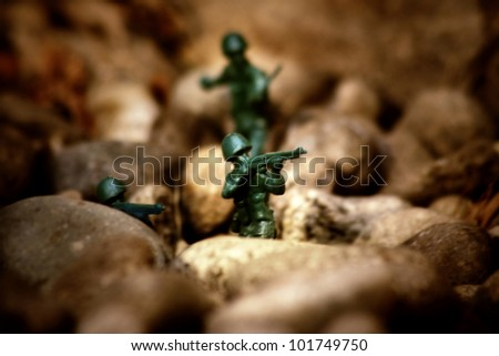 image from outdoor texture background series (toy soldiers at war)