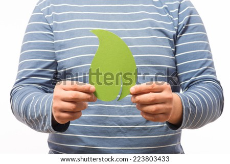 image icon leaf in hand