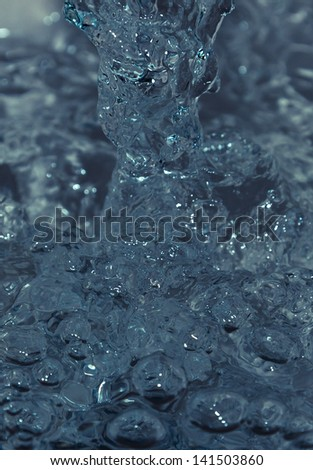 image is blue water to stop motion - stock photo