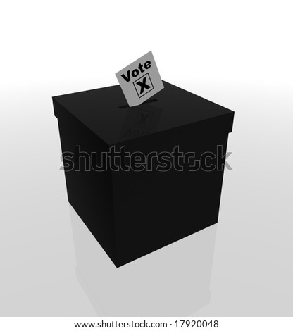 Image of a ballot box and voting slip