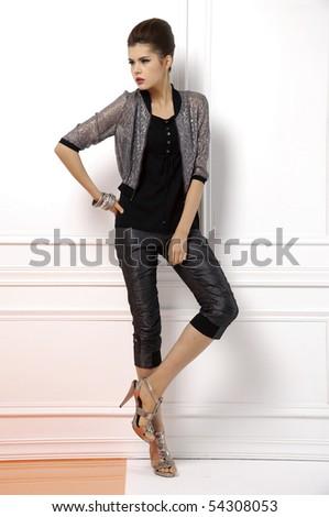image of a beautiful woman shot in studio - stock photo