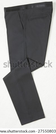Image of a black mens trousers - stock photo
