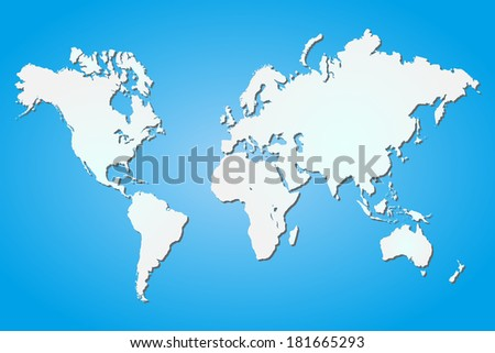 Image blue white world map vector stock illustration 181665293 image of a blue and white world map vector file available gumiabroncs Choice Image